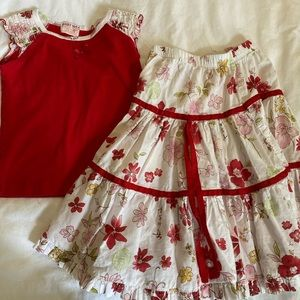 Baby Nay 2pc top and skirt set size 6Y
